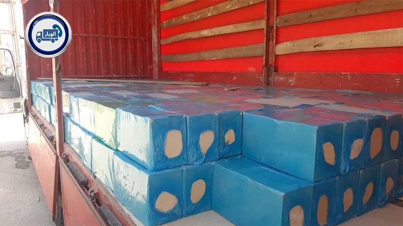 ارسال بار به عراق از تمام نقاط ایران - محموله آجر توسط الوبار به موصل عراق