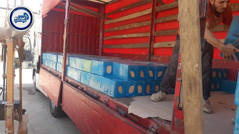 محموله آجر توسط الوبار به موصل عراق